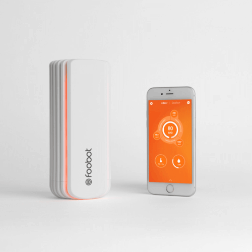 Foobot luchtkwaliteit monitor
